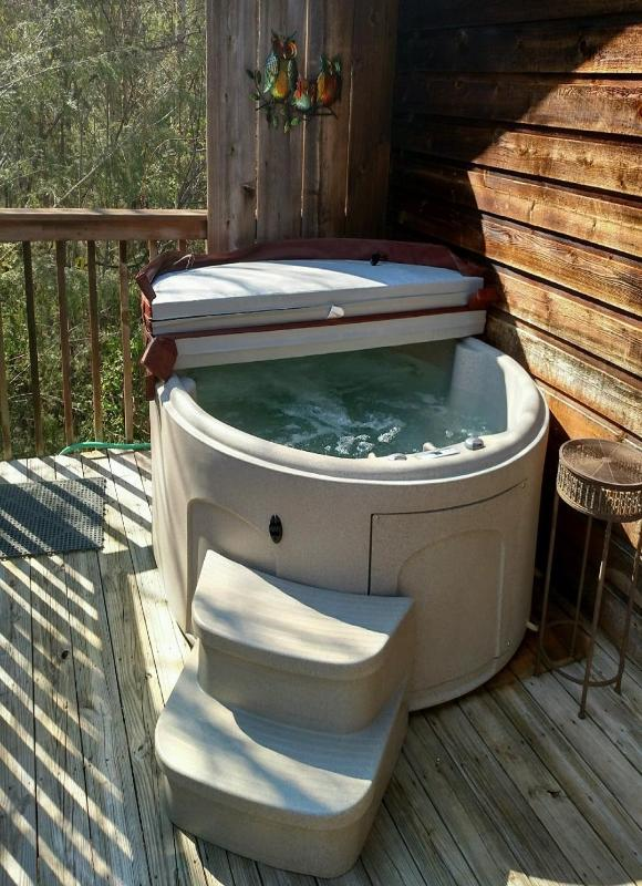 Enjoy the view and the stars in the brand new hot tub!