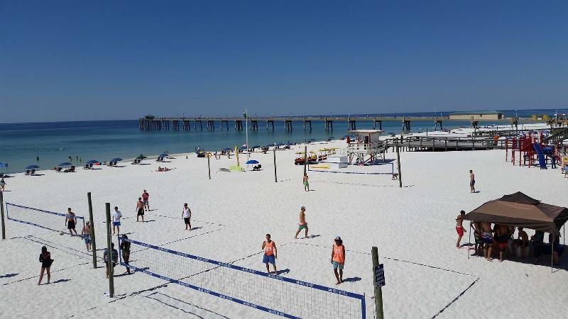 Volleyball on Okaloosa Island beach.