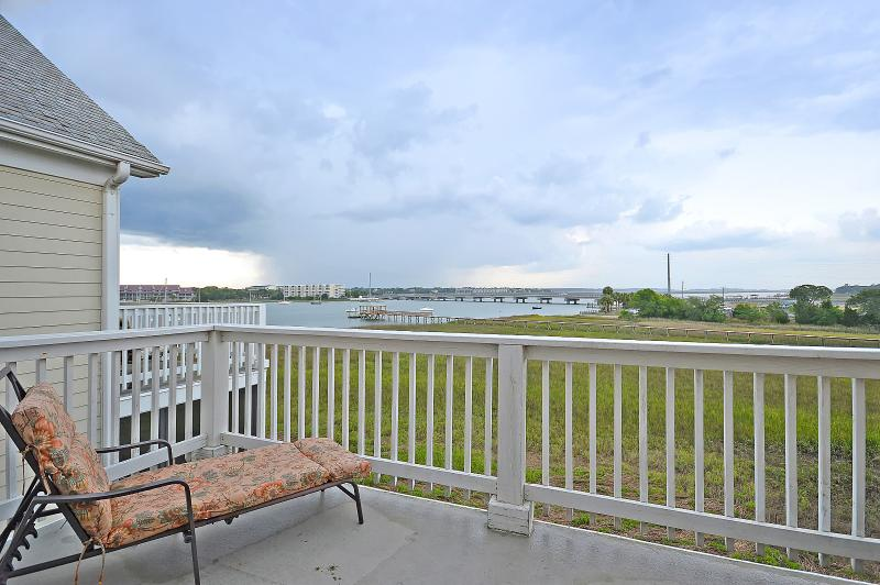 We love watching storms come in from our master balcony.