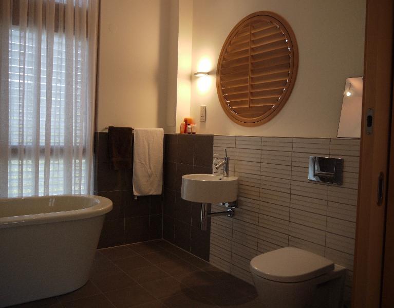 Your En-suite Bathroom - with Bath Tub and walk-in Rain Shower