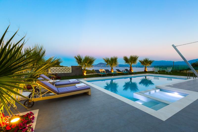 Located on a hill next to Marathi beach, offering panoramic views of Souda bay