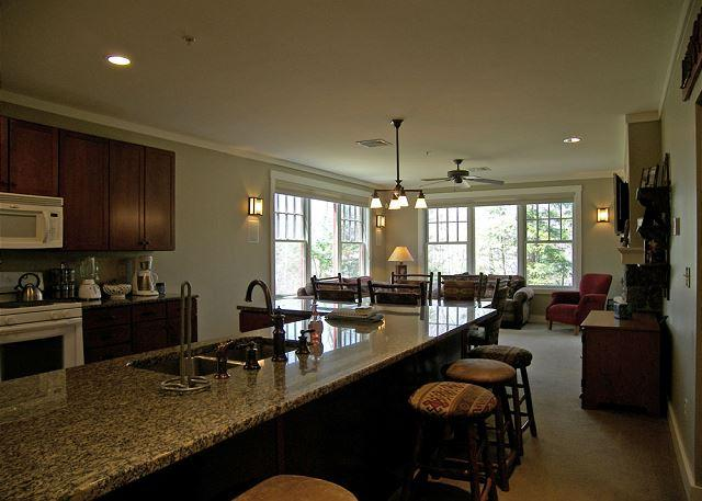 Open Concept Kitchen, Dining and Living Areas