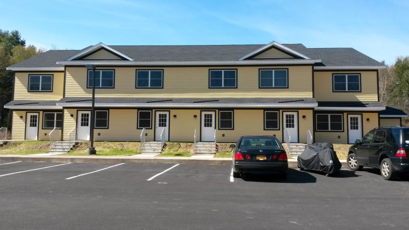 Outside view of the townhomes