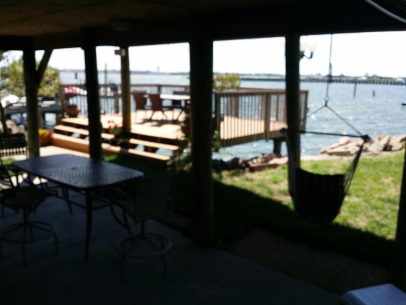 swing and new patio furniture