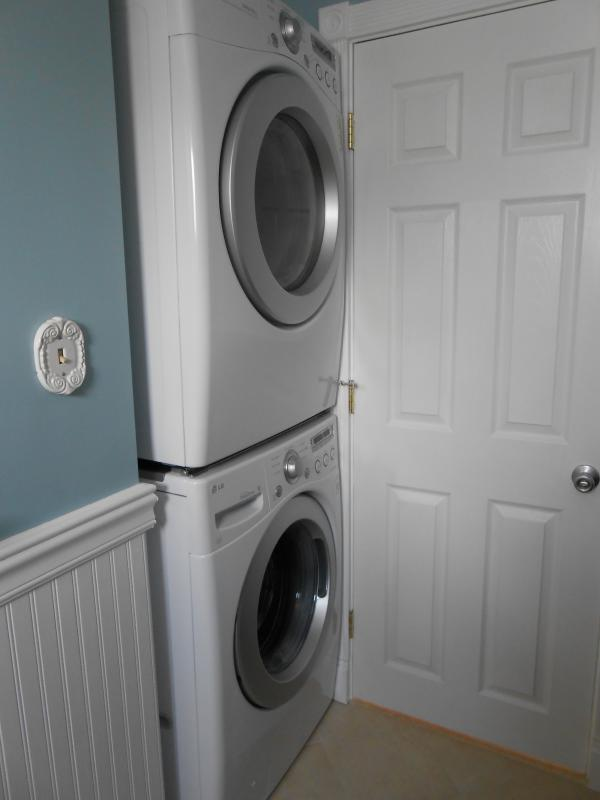 New Full size stackable washer and dryer