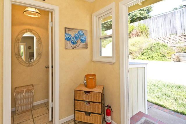 mud room off kitchen. Your own Washer and dryer outside in cabinet
