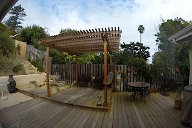 New Pergola in back yard for added shade and ambience