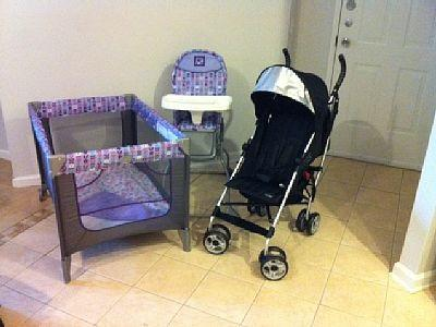 Baby equipment available free of charge at Condo