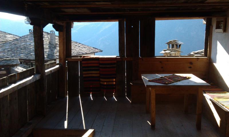 First floor wooden terrace.
