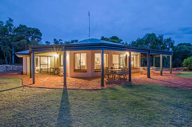 Located on a secluded 5 acre property watch kangaroos graze as you relax on the lounge