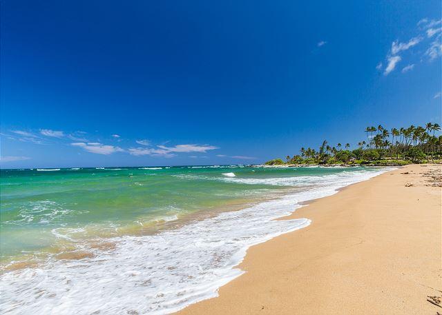 Wailua Beach, 1 mijl ten noorden van de Condo