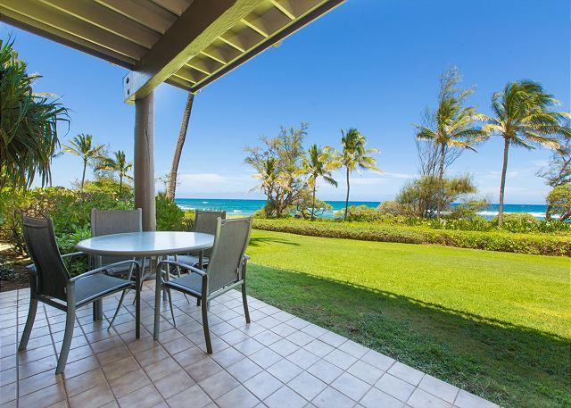 Kaha Lani Resort #123 Oceanfront, Walk to Beach, Sunrise Views, holiday rental in Lihue