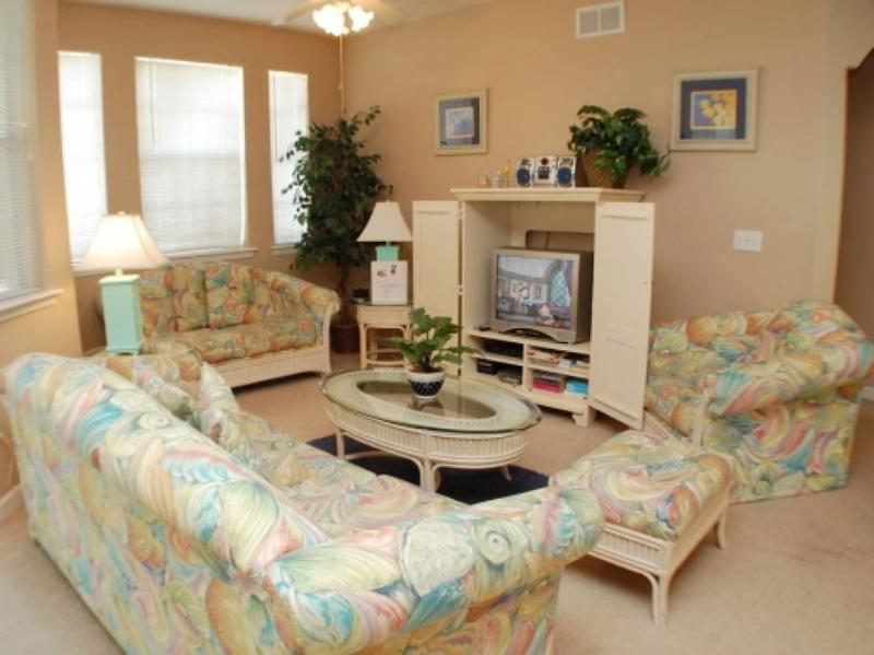 Cozy Living Room with Beautiful Lighting