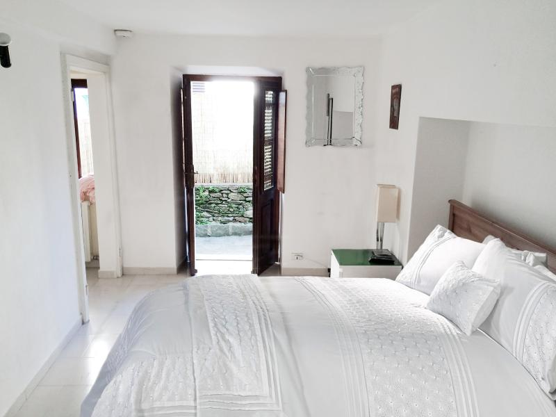 Bedroom leading to private courtyard garden