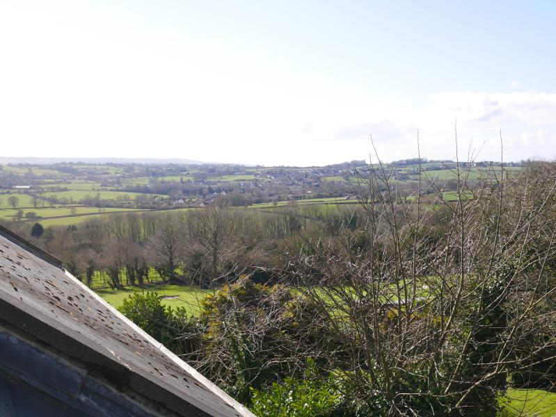 View from the top over looking the mendip hills