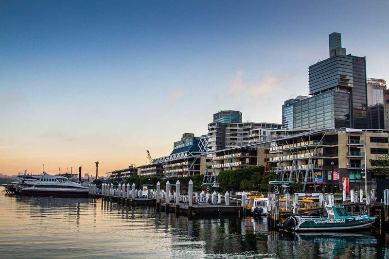 King St Warf (Darling Harbour) is round the corner.