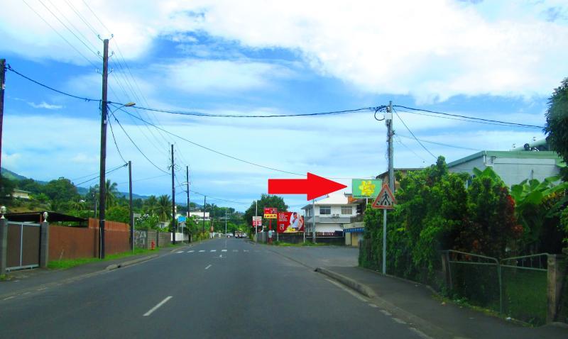 Vue de la route principale