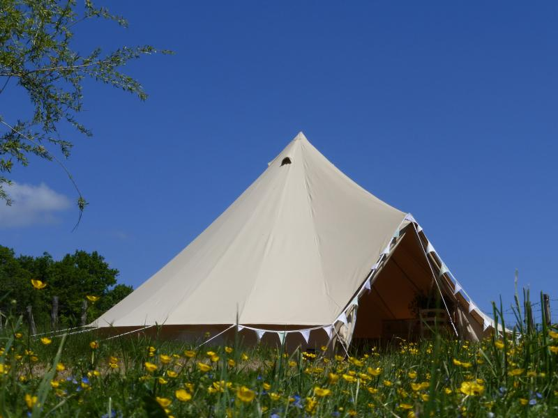 Luxury glamping for two in the middle of the French countryside. It's just you and the flowers!