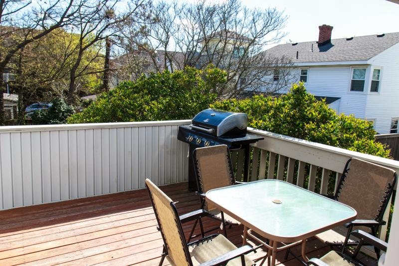 Second Floor Deck with grill