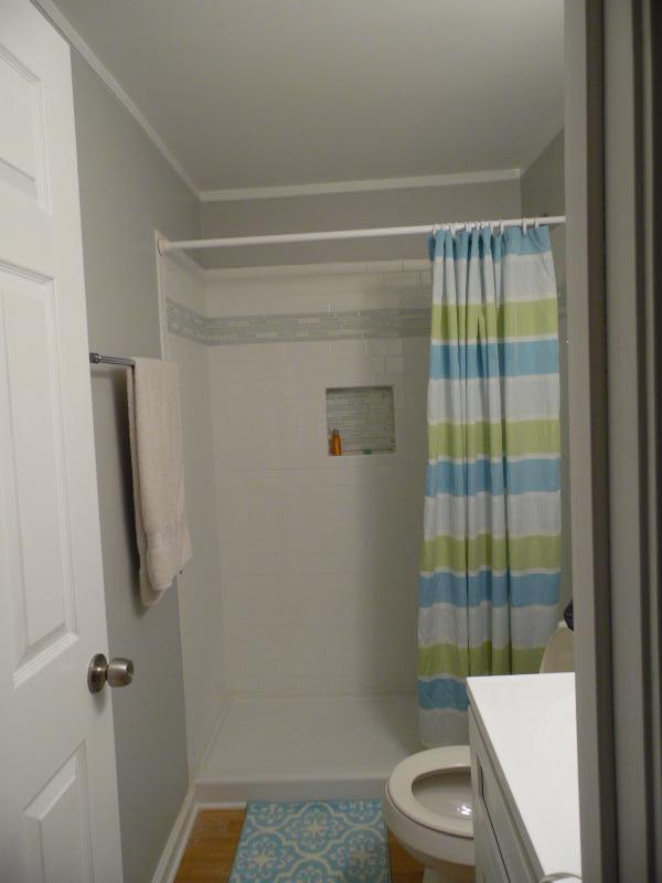 First full bathroom, outside master bedroom.