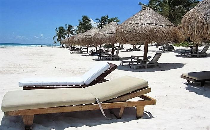Resort beach a shuttle ride away