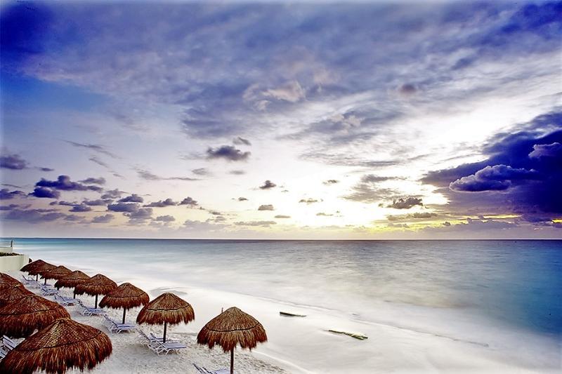 Resort beach evening view