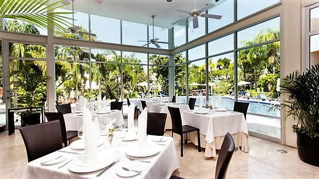 Dining options in the resort