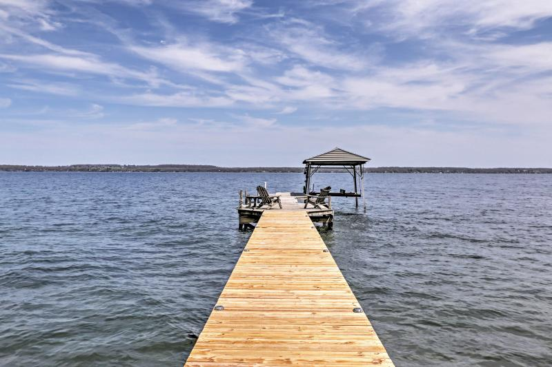 You'll love having 100 feet of direct lakefront access and a private dock.