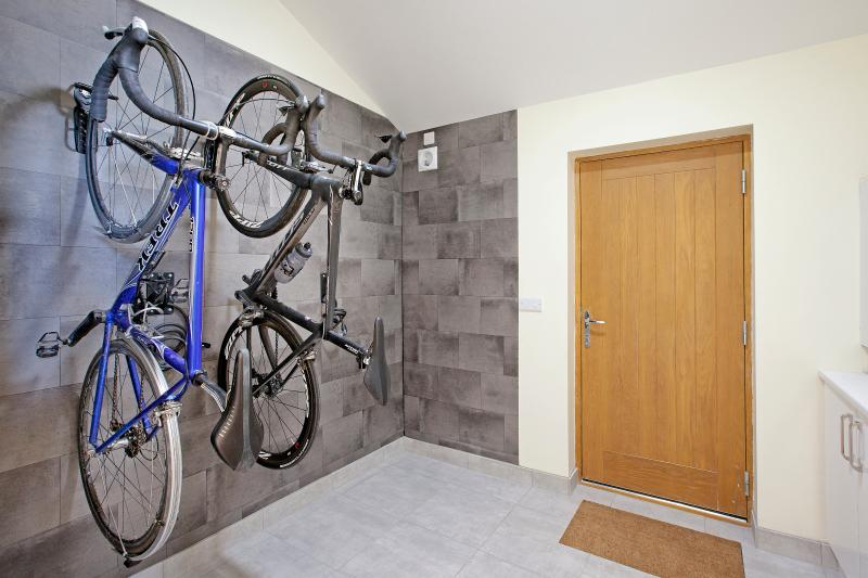 The wet room is ideal to store muddy outdoor gear