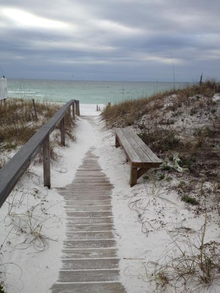 Private Deeded access to an expansive private beach the beach is just a football field away