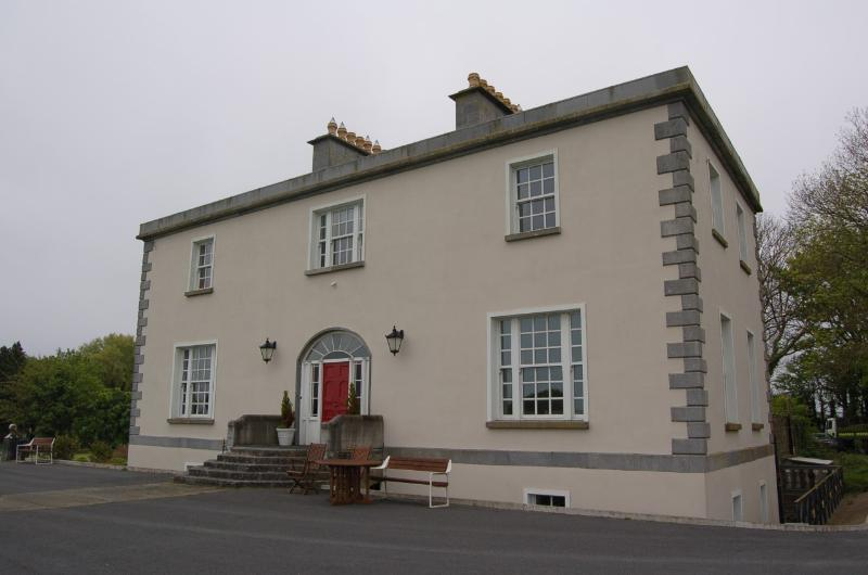 Ballycurrin House, a Georgian house on the shores of Lough Corrib.