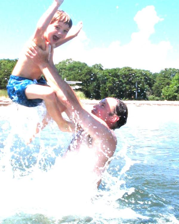 Local water temp 70+ degrees F  from mid-June to mid-September