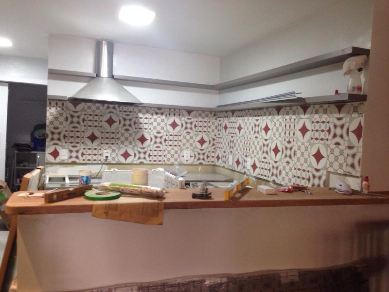 cozinha ainda em obra - falta atualizar a foto