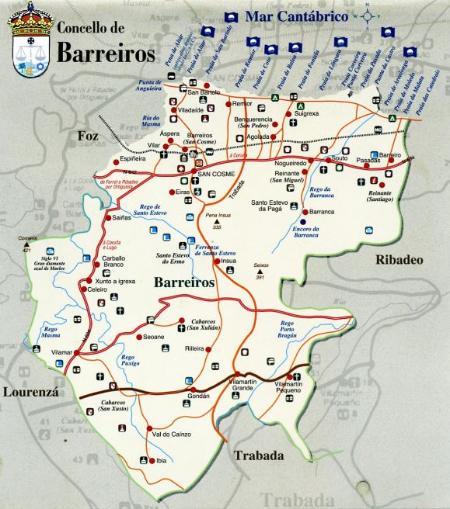 Mapa de Barreiros