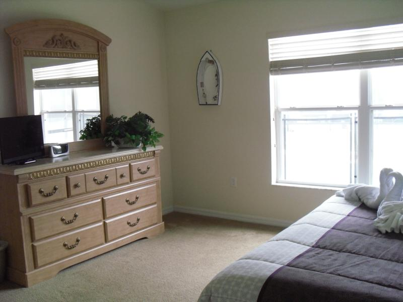 Master Bedroom with Flat Screened Smart TV