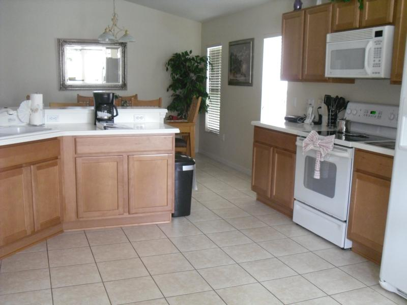 Fully equipped kitchen area, with all essential kitchen equipment