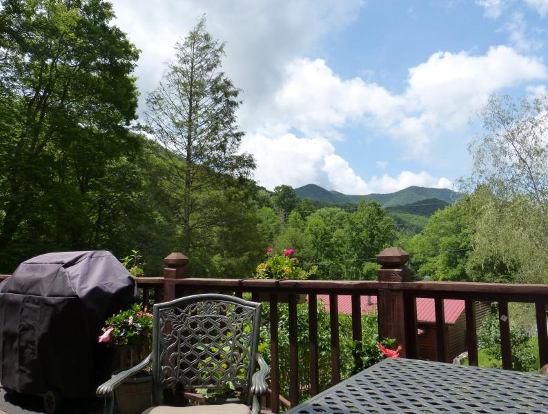 Smokey Mountains view from upper pond deck