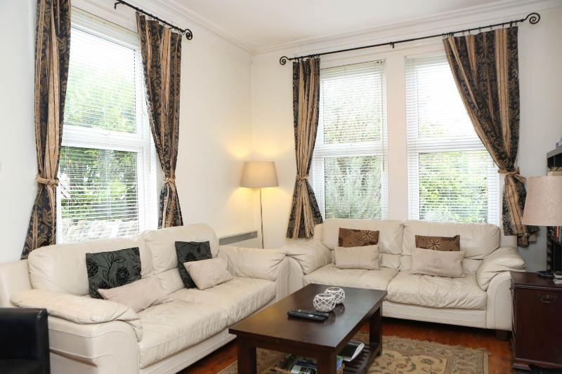 lounge with open fireplace ,TV, dvd, games