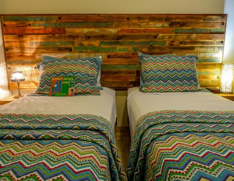 High quality bedding on comfy extra long twin beds