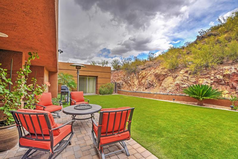 Settled high on Mummy Mountain, this Paradise Valley vacation rental home has no shortage of incredible views!