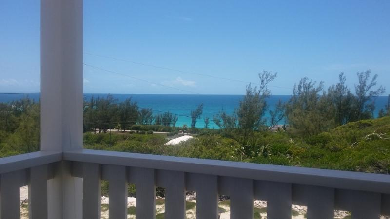 Sea views of Rainbow Bay from the porch.