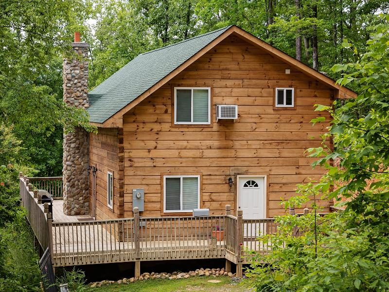 Back of cabin porch