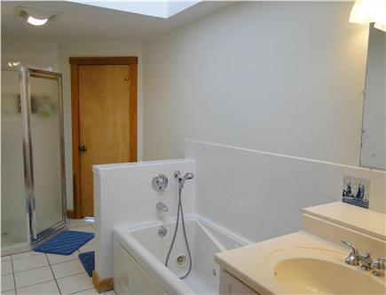 Large 2nd floor bathroom has hallway & bedroom access jaccuzzi & seperate new shower - 2016 install