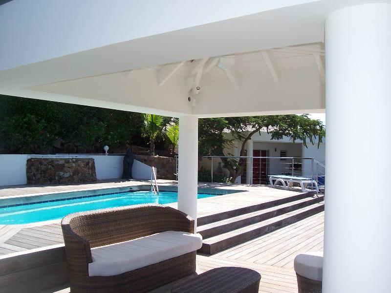 Grande terrasse privée en Deck autour de la piscine