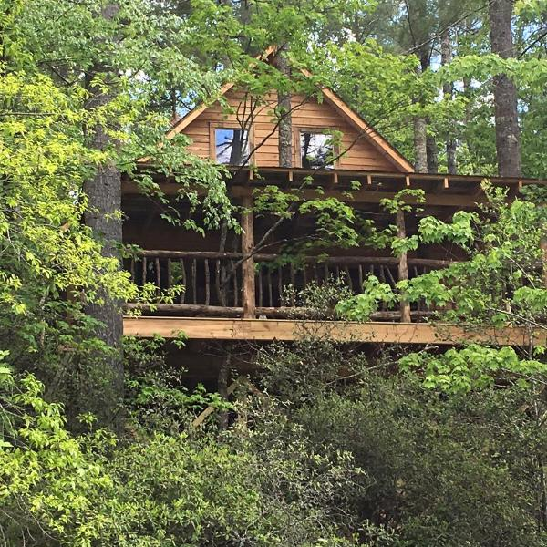 Rushing Waters River Tree house cabin, holiday rental in Wiley
