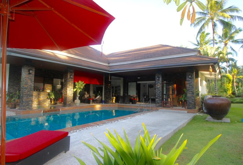 Large spacious villa leading onto expansive verandah and luscious green garden