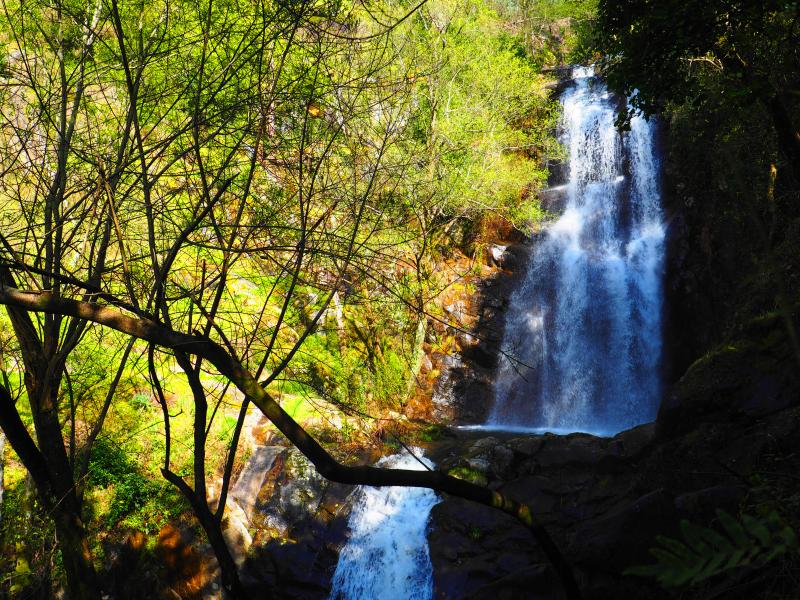 Waterfalls and river are in abundance in central Portugal