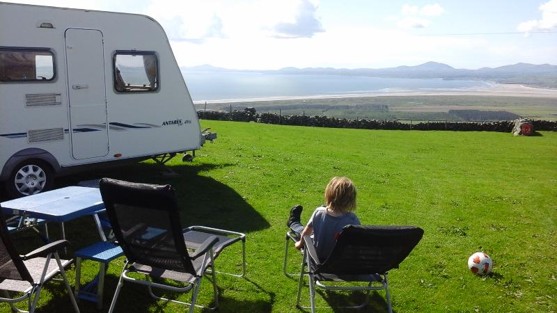 Your living room!    From a site above Harlech, this year.