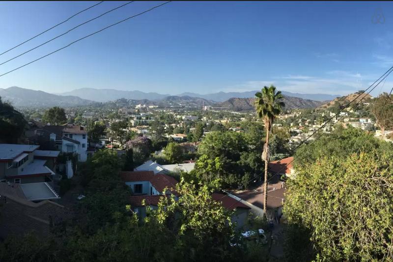Panoramic view facing north to San Gabriel mountains