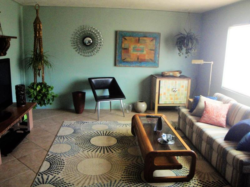 One of the grooviest living rooms you will find anywhere!